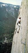 Rock Climbing Photo: Ray Jardine and his eponymous traverse above Dolt ...
