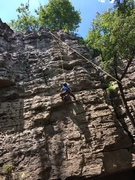 Rock Climbing Photo: My 8yr old on triple token