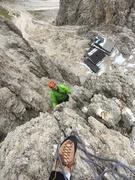 Rock Climbing Photo: The Demetz Hut from the climb.