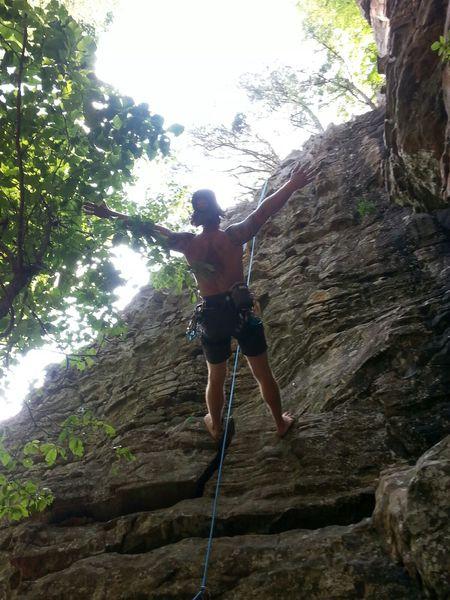 First barefoot climb