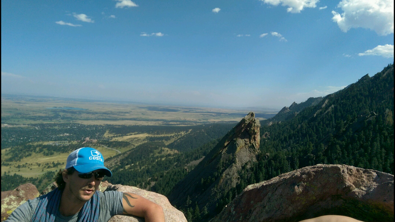 At the summit.