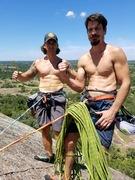 Rock Climbing Photo: Flexing on harder than it looks