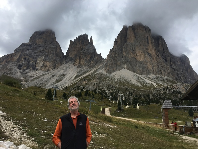 The classic Thumb route on the left (directly above my left shoulder) and the two towers - Cobra and Cristiana - on the right (directly above the first lift tower).