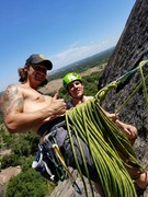 Rock Climbing Photo: Brians first multi pitch climb