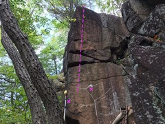 Rock Climbing Photo: The view from the white trail.