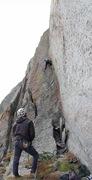 Rock Climbing Photo: Broken Arrow; 5.12- Plume E. Face