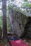 Rock Climbing Photo: Hidden Arete. Stand start at the corner and traver...