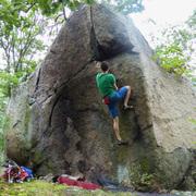 Rock Climbing Photo: Tesh on Bear Grease