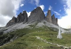 Rock Climbing Photo: Tre Cime and the Spigola Giallo