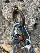 Rock Climbing Photo: Classic Dolomite anchor