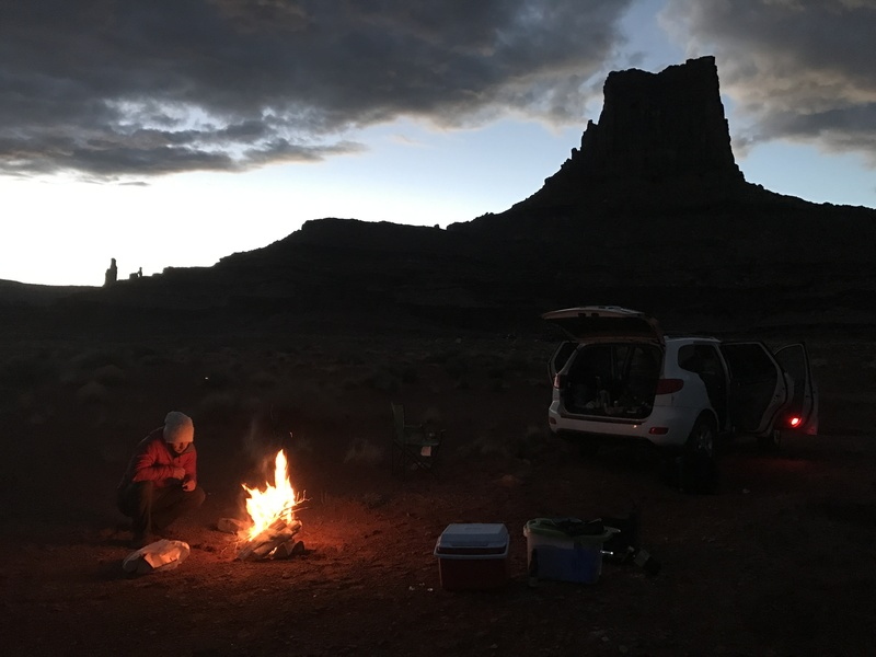 White rim camping before Washer women send.