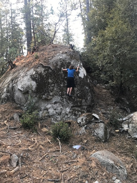 Me climbing a boulder I forgot all about