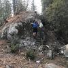 Me climbing a boulder I forgot all about