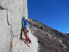 Rock Climbing Photo: Kevin starting the 3rd pitch