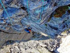 Rock Climbing Photo: Coming up the first pitch! We ended up stepping le...