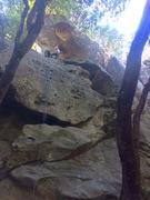 Rock Climbing Photo: The route follows the leftmost bolt line. Slabby c...