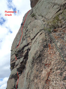 Rock Climbing Photo: Plummer's Crack from below Sustainable Organic Bol...