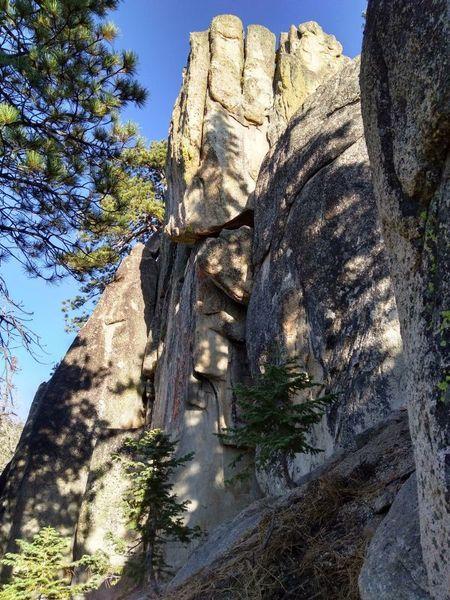 West Velveeta Point from the west, Crafts Peak