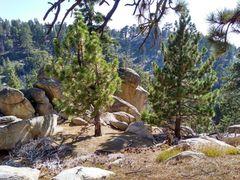 Rock Climbing Photo: Looking down-slope to Works Rock, Crafts Peak
