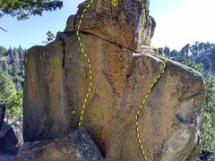 Rock Climbing Photo: The north face of Works Rock, Crafts Peak