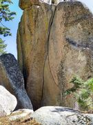 Rock Climbing Photo: Straight-on view of Highway to Hell (5.11c), Craft...