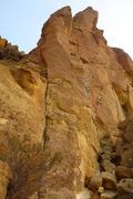 Rock Climbing Photo: Headless Horsman goes up the pillar following roug...