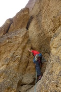 Rock Climbing Photo: Starting up Pitch 1 chimney.