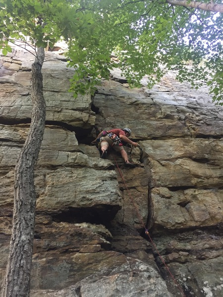 Super moderate fun trad line, a lot of cold air pushing though the cracks.
