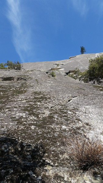 Base of the direct/slab pitch