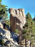 Rock Climbing Photo: Works Rock from the west, Crafts Peak
