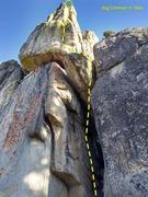 Rock Climbing Photo: Big Cheese (5.10d), Crafts Peak