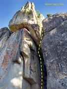 Rock Climbing Photo: Mouse Trap (5.10b), Crafts Peak