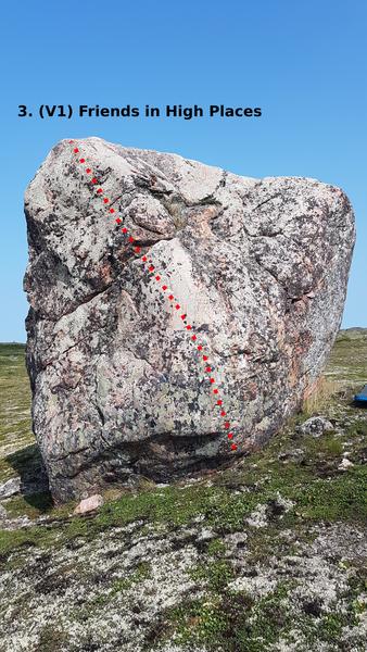 Topo of boulder.