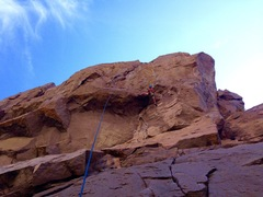 Rock Climbing Photo: Pops pullin the Roof!
