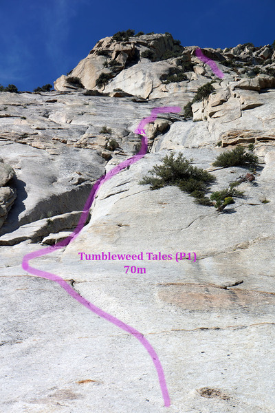 Tumbleweed Tales start, partial 2nd pitch, and upper pitches.