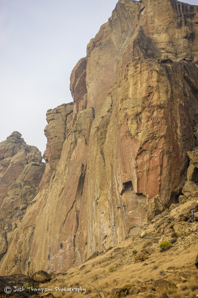 Zebra/Zion<br> Unknown climber on the 2nd pitch.  Good view of the right facing dihedral