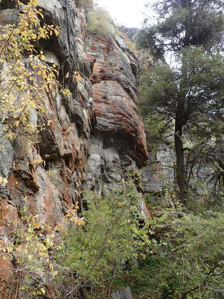 Orange Cave Wall from the west
