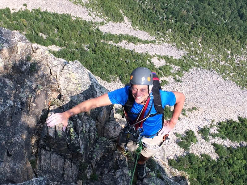 Andrew Kaplan topping out in 41st anniversary reclimb.