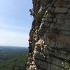From the second belay. Unknown climbers.