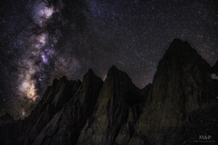 Rock Climbing Photo: Milky way rising over Mt. Whitney and the Needles....