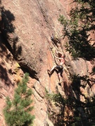 Rock Climbing Photo: At the 5th bolt, getting ready to launch into the ...