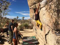 Rock Climbing Photo: Reachy moves when you're 5'.