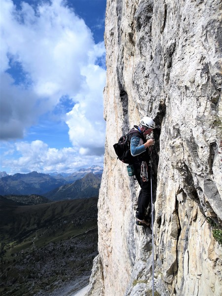 Kim Miller (RKM) on the key traverse pitch