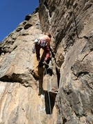 Rock Climbing Photo: About to hit the ledge on the left and a solid res...