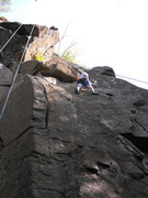 Rock Climbing Photo: Smooth upper is tough to protect ... if setting a ...