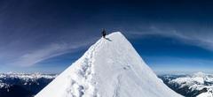 Rock Climbing Photo: Standard summit ridge conditions. Beautiful day. G...