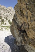Rock Climbing Photo: Cleaning Subalpinist on the 3rd ascent.