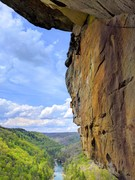 Rock Climbing Photo: Nathan W. debates his options at the sugar cube bl...