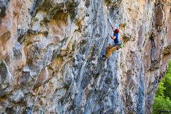 "Rock Climbing Photo: Olivier Manou on ""The Beast""."