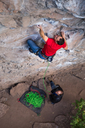 "Rock Climbing Photo: mark low on ""cardinal sin"""